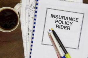 Common Disability Insurance Riders in a folder.